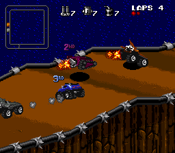 File:Rock N Roll Racing SNES screenshot.png