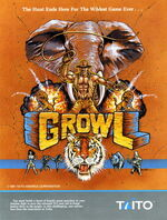 Growl arcade flyer