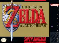 The Legend Of Zelda A Link to the Past SNES cover