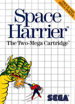 Space Harrier SMS box art