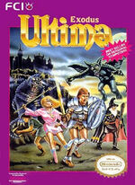 Ultima 3 Exodus NES cover