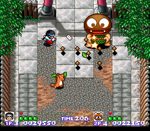 File:Pocky And Rocky SNES screenshot.png