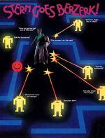 Berzerk arcade flyer