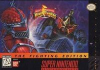 Mighty Morphin Power Rangers The Fighting Edition SNES Cover