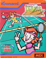 Konamis Tennis MSX cover