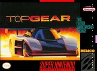 Top Gear SNES Cover