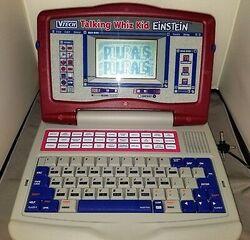 Vintage-VTech-Talking-Whiz-Kid-Einstein-Laptop-Computer