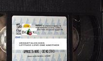 VeggieTales Kids Lettuce Love One Another 1999 VHS tape label (Original 1999 label)