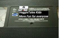 VeggieTales Kids More Fun for Everyone 1999 VHS tape label (Reprinted 2001 label)