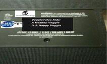 VeggieTales Kids A Healthy Veggie Is A Happy Veggie 2001 VHS Tape Label (Version -2)