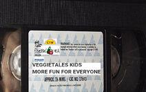 VeggieTales Kids More Fun for Everyone 1999 VHS tape label (Original 1999 label)