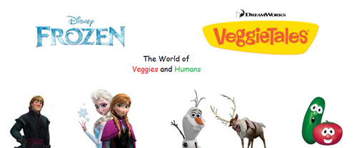 Frozen and Veggietales spin-off series poster