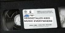 VeggieTales Kids Music Everywhere 2000 VHS tape label
