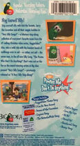 Very Silly Songs CTW Back Cover
