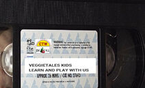 VeggieTales Kids Learn and Play With Us 1999 VHS tape label