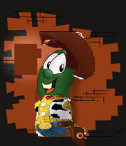 Larry as Sheriff Woody