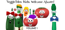 VeggieTales Kids Welcome Aboard 1999 VHS front cover