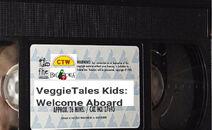 VeggieTales Kids Welcome Aboard 1999 VHS tape label
