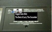 VeggieTales Kids The Best of Larry the Cucumber 2001 VHS tape label
