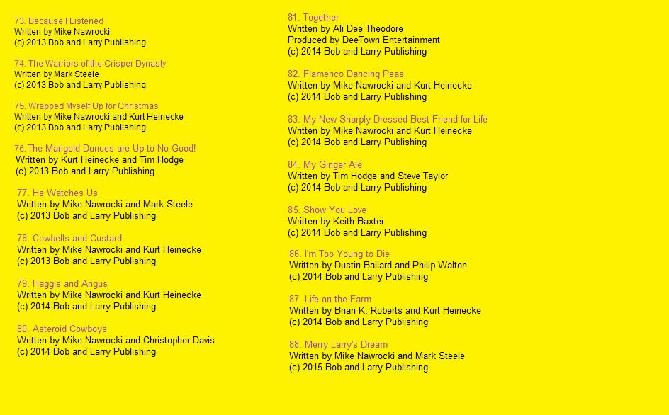 Image - Kidz Bop Sings VT Song List Page 5.png | VeggieTales Fanon ...