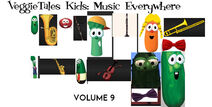 VeggieTales Kids Music Everywhere 2000 VHS front cover