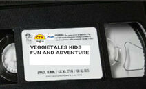 VeggieTales Kids Fun and Adventure 2000 VHS tape label