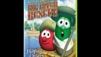 Veggie Tales Tomato Sawyer and Huckleberry Larry's BIG River Rescue Rare 2008 Prototype DVD