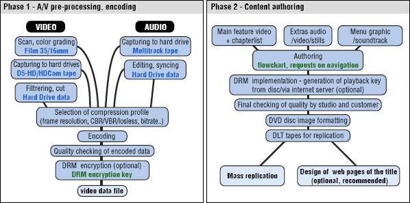 Dvd preprocessing authoring