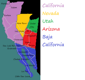 Map of California Republic