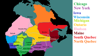 Map of the Chicago Kingdom