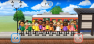 Stephanie, Emily, Hiroshi, Patrick, Eduardo, Alisha, Kathrin, Jackie, Marisa, Siobhan, and Gabriele featured in Commuter Count in Wii Party