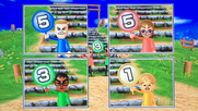 Tyrone, Siobhan, Sota and Megan participating in Strategy Steps in Wii Party
