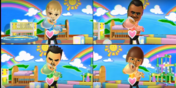 Tommy, Saburo, and Mike participating in Cry Babies in Wii Party