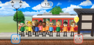 Ian, Gabi, Emma, Sakura, Nelly, Takashi, Megan, Marisa, and Lucia featured in Commuter Count in Wii Party