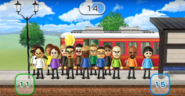 Miguel, Keiko, Steph, Giovanna, Alisha, Shouta, Akira, Stephanie, Nick, Shohei, Susana, Ian, Matt, and Rin featured in Commuter Count in Wii Party