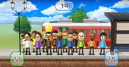 Miguel, Keiko, Steph, Giovanna, Alisha, Shouta, Akira, Stephanie, Nick, Shohei, Susana, Ian, Matt, and Rin featured in Commuter Count in Wii Party