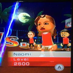 Naomi playing Basketball at Midnight.
