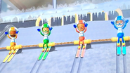 Steve, Greg, Rin and Sandra participating in Jumbo Jump in Wii Party