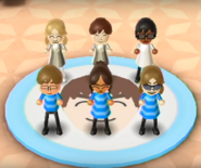 Emily, Ai, Chris, and Chika featured in Swap Meet in Wii Party