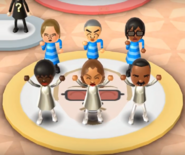 Ursula, Takashi, Ai, Sarah, Naomi, and Andy featured in Swap Meet in Wii Party