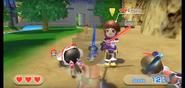 Emily wearing Purple Armor in Swordplay Showdown