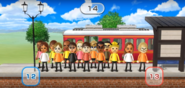 James, Yoko, Mike, Lucia, Eduardo, Susana, Rachel, Sota, Shouta, Naomi, and Nelly featured in Commuter Count in Wii Party