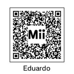 Eduardo's QR Code, as seen in the portrait.
