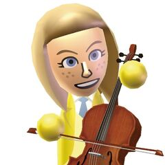 A Wii Music artwork of Abby.