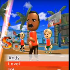 Andy playing Basketball at High Noon.