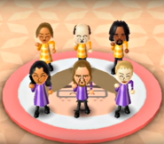 Mia, Alex, Ryan, and Jessie featured in Swap Meet in Wii Party