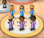 Marco, Jake, Stephanie, Hayley, and Ai featured in Swap Meet in Wii Party