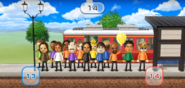 Oscar, Tomoko, Theo, Yoko, George, Lucia, Tatsuaki, Stephanie, and Matt featured in Commuter Count in Wii Party
