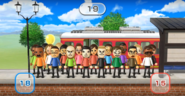 Hayley, Andy, Marisa, Kathrin, Shohei, Gabi, Shinnosuke, Ian, Helen, Pablo, Fumiko, Tyrone, Daisuke, Midori, Hiroshi, Shouta, Julie, Miguel, and Susana featured in Commuter Count in Wii Party