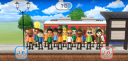Helen, Matt, Elisa, Gabriele, Lucia, Ren, Sota, Jake, Emma, Steve, Gabi, Misaki, and Kathrin featured in Commuter Count in Wii Party